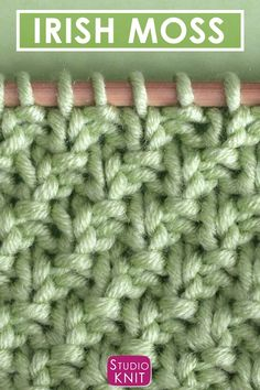 How to Knit the Irish Moss Knit Stitch Pattern with Video Tutorial How to Knit the IRISH MOSS Stitch Free Knitting Pattern Video Tutorial by Studio Knit StudioKnit knittingvideo KnitStitchPattern FreeKnittingPatterns You are in the right Knitting Stiches, Loom Knitting Patterns, Knitting Videos, Knitting For Beginners, Free Knitting, Baby Knitting, Slip Stitch Knitting, Irish Crochet Patterns, Beginner Crochet