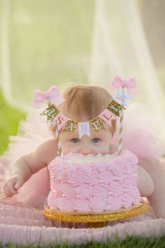 If you're going to smash a cake, you better get some awesomely adorable pictures in the process!