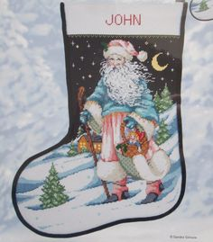 80a13d503d1 Candamar Designs Needlepoint Kit Father Frost Christmas Stocking Santa   30905