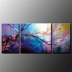 cherry blossom-wall panels