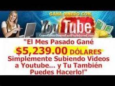 Como Ganar Mas Dinero: Trabajar desde casa - Cómo hacer dinero con YouTub...