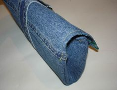 Denim clutch purse Reserved for Milly K. by NancyEllenStudios