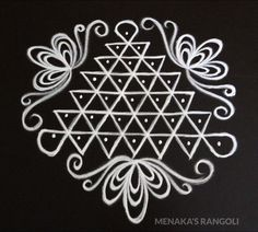 Rangoli Side Designs, Rangoli Designs Latest, Rangoli Borders, Small Rangoli Design, Rangoli Patterns, Rangoli Designs Images, Rangoli Ideas, Rangoli Designs With Dots, Rangoli With Dots