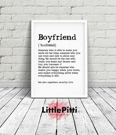 Boyfriend gift boyfriend valentines day valentines by LittlePitti