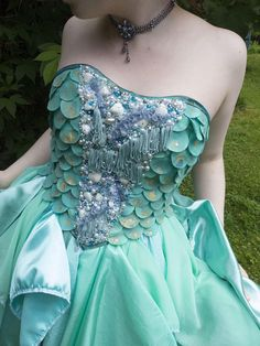 Hand Crafted Sea Princess Mermaid Dress Perfect for Fancy