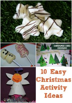 10 Easy Christmas Activity Ideas #Christmas #KidsCrafts