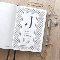 How To Do A Cover Page New Bullet Journal Monthly Cover Page June Cover Page Coffee Drawing .