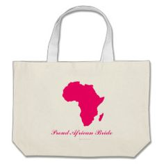 """Proud African Bride"" - African Continent in Pink Jumbo Tote Bag #proudafricanbride #pinkafrica #africantote #dnw_weddingdesigns"