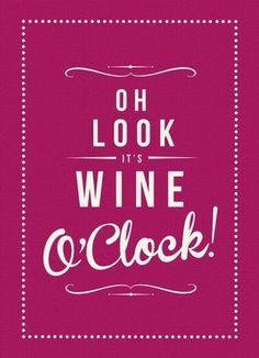 its wine o'clock