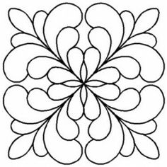 Quilt Stencil Adante Feather Block By Central Press Publication Quilting Stencils, Quilting Templates, Longarm Quilting, Free Motion Quilting, Quilting Tutorials, Patchwork Quilting, Quilts, Quilling Patterns, Stencil Patterns