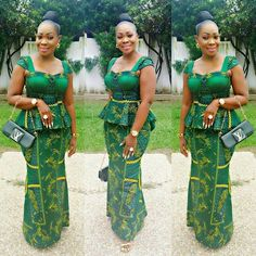 Just Check out This Classical Ankara Skirt And Blouse Styles : Fittess - DeZango Fashion Zone