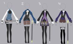 1900th century clothes inspired adopt CLOSED by sounds-like-balloons.deviantart.com on DeviantArt