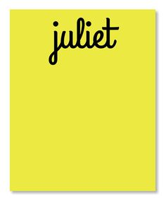 Another great find on #zulily! Small Personalized Neon Lemon Note Pad by idesign + co #zulilyfinds
