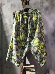 Flowers Prints Womans Linen Pants Wholesale Harem Baggy Trousers    #baggy #trousers #woman wholesale #pants #linen #harem #amazing