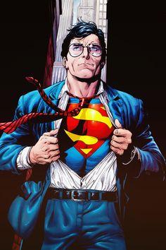 Clark is Superman Action Comics, Dc Comics Art, Marvel Dc Comics, Wonder Woman Y Superman, Superman Man Of Steel, Superman And Lois Lane, Superman Family, Superman Comic, Supergirl Superman