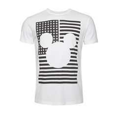 PRIMARK MICKEY MOUSE WHITE TEE T-SHIRT USA FLAG AMERICA MENS