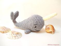 Amigurumi Narwhal Pattern : Whale narwhal pattern crochet creation by the merino mermaid