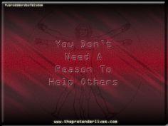 The Pretender:: You Don't Need A Reason... #ThePretender #ThePretenderLives #JarodsWordsofWisdom #quotes http://www.thepretenderlives.com