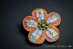Cherie Bosela - Mosaic Art & Photography - Flower Pin