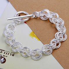Connecting Ring Silver Bracelet