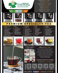 trusTEA - Specialty Loose Teas - the one you can trust Four Thieves, Flavoured Green Tea, Premium Tea, What You Eat, Herbal Tea, Iced Tea, Teas, Tea Pots, Herbalism
