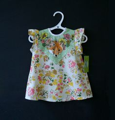 floral fox print baby toddler dress. $39.00, via Etsy.