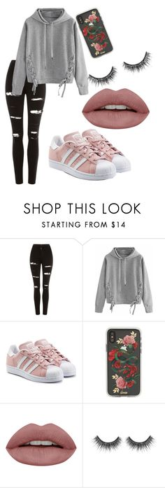 """89"" by fefi-89 on Polyvore featuring Topshop, WithChic, adidas Originals and Sonix"
