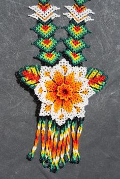 HUICHOL PEYOTE FLOWER NECKLACE