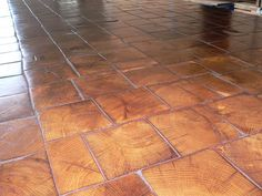 Barnwood Bricks endcut oak wood tile flooring