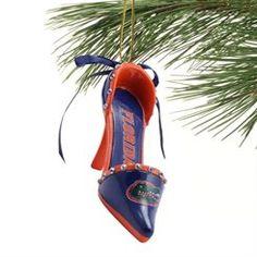 Florida Gators Team High Heel Shoe Ornament