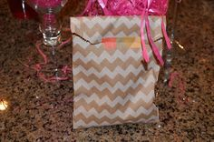 Chevron Favor Bags with Washi Tape!