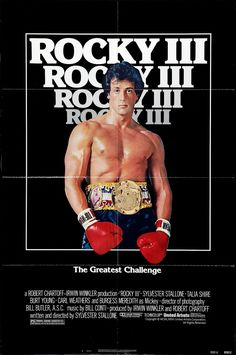 Famous Movie Posters, Famous Movies, Original Movie Posters, Rocky Sylvester Stallone, Rocky Poster, Burt Young, Carl Weathers, Rocky 3, Quilt Design