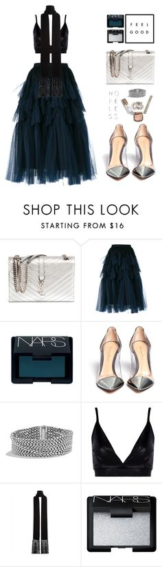 """""""Why Not?"""" by vendre-du-reve ❤ liked on Polyvore featuring Yves Saint Laurent, Dries Van Noten, NARS Cosmetics, Gianvito Rossi, David Yurman, Boohoo, Jaeger and Kara"""