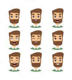 Bearded man face vector @creativework247
