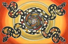 Indigenous painting Each part of the whole by Murray Djeripi