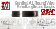 SAVE 20%!! – Kanthal A1 Wire, All Gauges, Lengths – CHEAP!