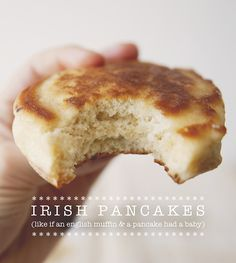 Imagine if pancakes and english muffins had a baby. These Irish pancakes are soft, fluffy, and warm, but also filled with nooks and crannies! Brunch Recipes, Breakfast Recipes, Pancake Recipes, Crepe Recipes, Waffle Recipes, Breakfast And Brunch, Irish Breakfast, Mexican Breakfast, Breakfast Pastries