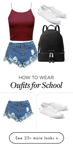 """""""School day"""" by zanuri on Polyvore featuring Lacoste and MICHAEL Michael Kors"""