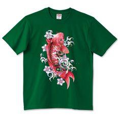 ガラスの赤鯉   デザインTシャツ通販 T-SHIRTS TRINITY(Tシャツトリニティ)