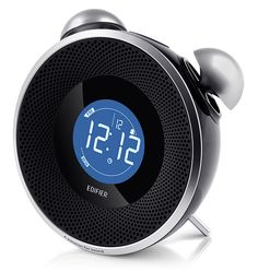 Tick Tock Bluetooth Alarm Clock Stereo - This Tick Tock Bluetooth Alarm Clock Stereo is exactly what you want in an alarm clock. It is even styled like those old time alarm clocks.  You can stream your favorite tunes from your Bluetooth enabled device right to this clock. It also has an international FM radio tuner, a Bluetooth receiver, and an auxiliary input. The LCD Display shows everything you need to know.