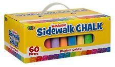 Sidewalk Chalk 60 Pieces Summer Fun Art Outdoor Drawing Creative Bright Kids New