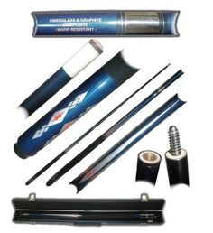 Cues 21568: 2 Piece Fiberglass Blue Diamond Pool Cue Billiard Stick With Case -> BUY IT NOW ONLY: $33.99 on eBay!
