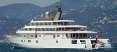 """David Geffen's yacht """"Rising Sun"""" has 82 rooms and is one of the largest yachts in the world."""