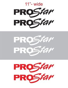"2pcs 11""wide PROSTAR Vinyl Sticker Decal Graphic INTERNATIONAL SEMI TRUCK #Oracal"