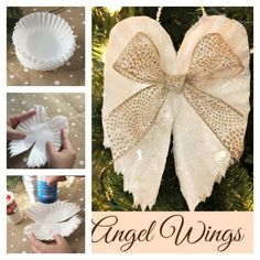 DIY-Sparkling-Angel-Wings-Ornaments-From-Coffee-Filters