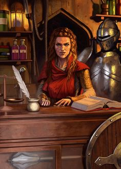 f npc Merchant of Armor Weapons Potions and other Adventurer gear story retired Adventurer wyszukiwarka lg Fantasy Map, Medieval Fantasy, Fantasy World, Dnd Characters, Fantasy Characters, Female Characters, Fantasy Inspiration, Character Inspiration, Character Portraits