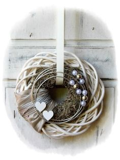 Groß - Deko - Jute krans - Lilly is Love Winter Christmas, Christmas Wreaths, Christmas Decorations, Valentine Crafts, Holiday Crafts, Christmas Photography, General Crafts, Door Wreaths, Burlap Wreaths