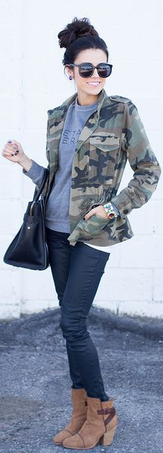 A Camo blazer? I would love this! #FixedOnFall
