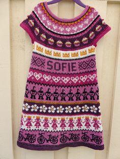 Dagens kjøpeoppskrift: Sofie-kjole | Strikkeoppskrift.com