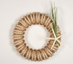 Starfish Hampton's Wreath!!! Bebe'!!! Perfect for The Hamptons or the Coastal Cottage or Beach House!!!